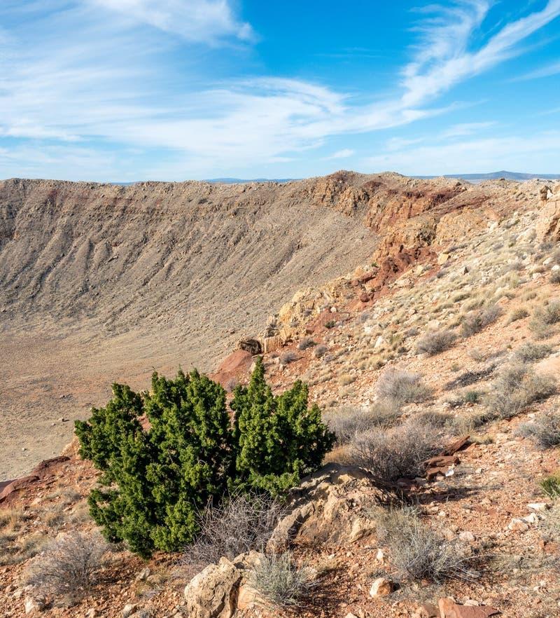 Cratere della meteora, Arizona immagine stock libera da diritti