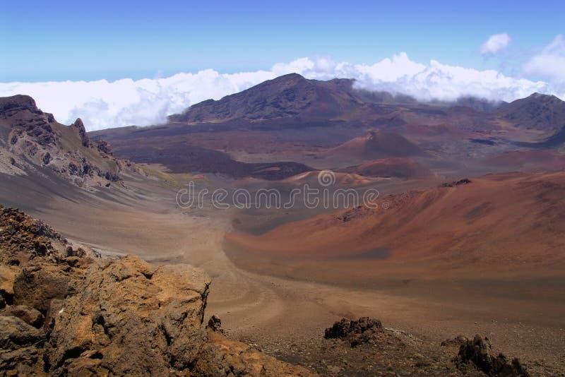 Cratere di Haleakala del supporto immagini stock libere da diritti
