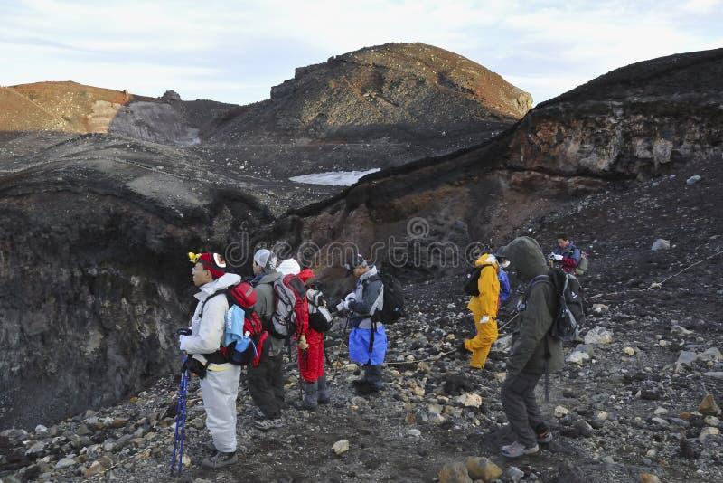 Cratere di Mt.Fuji immagini stock libere da diritti