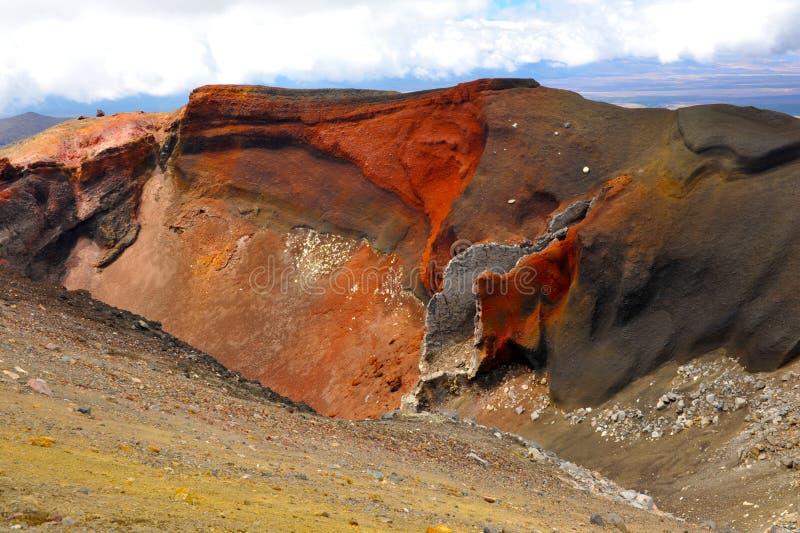 Cratere rosso immagine stock libera da diritti