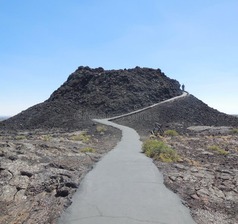 Crateri del parco nazionale della luna fotografia stock