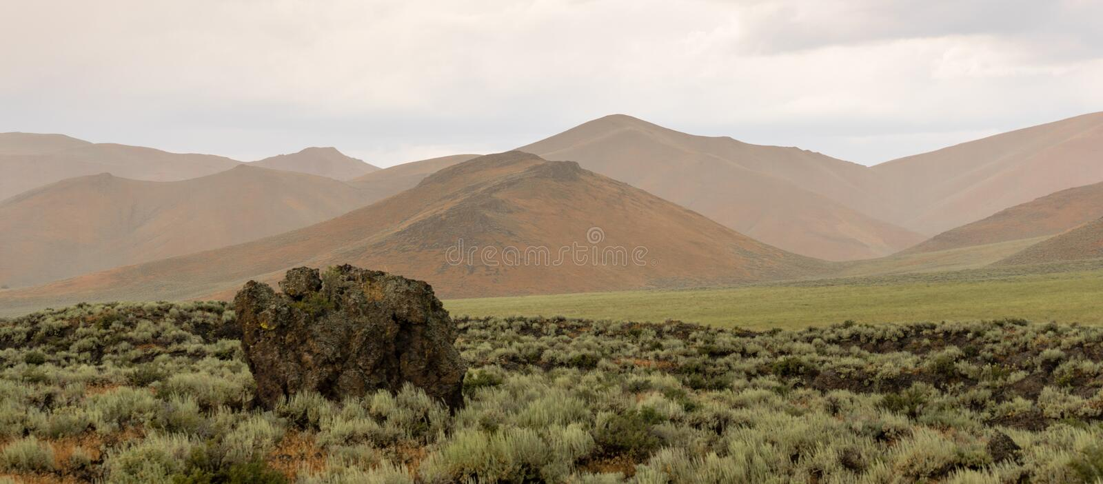 Craters of the Moon Nationa Monument United States. The lava filled volcanic landscape near Craters of the Moon Idaho royalty free stock images