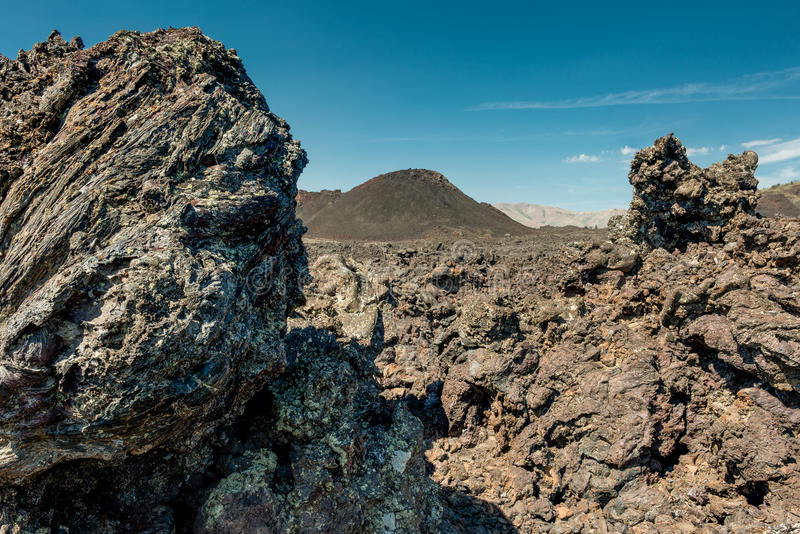 Craters of the Moon. National Monument and Preserve in Arco, Idaho royalty free stock image