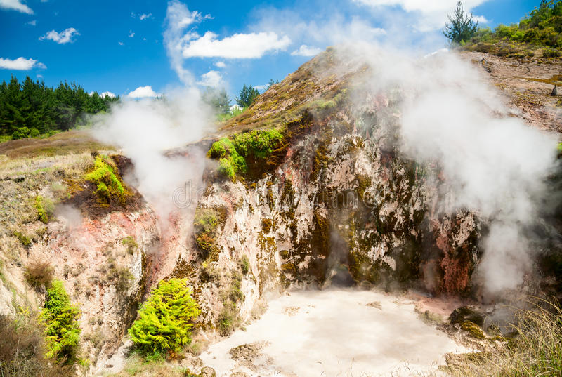 Craters of the Moon in New Zealand stock images