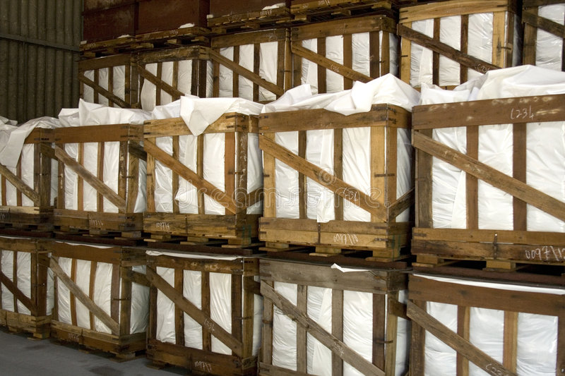 Crates in Warehouse. Image of crates in a warehouse royalty free stock image