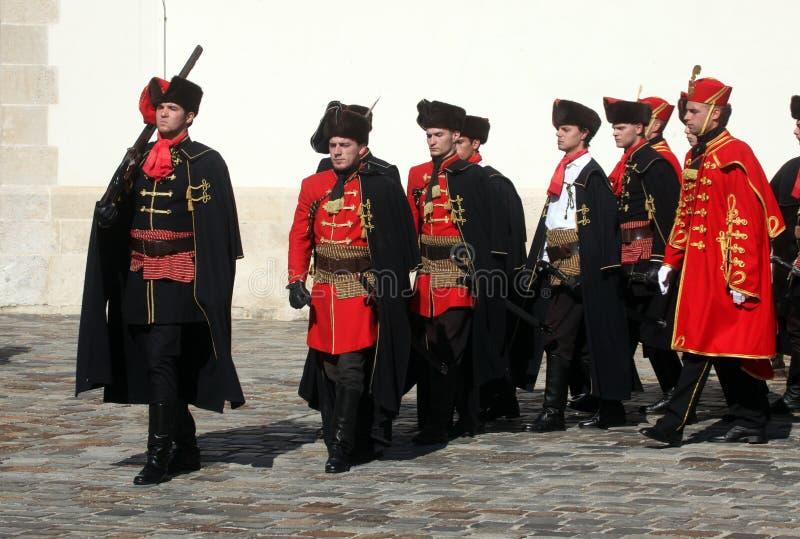 Cravat pułk zaznacza dzień krawat przy ceremonią fotografia royalty free