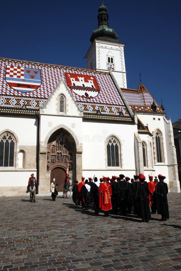 Cravat pułk zaznacza dzień krawat przy ceremonią obrazy stock