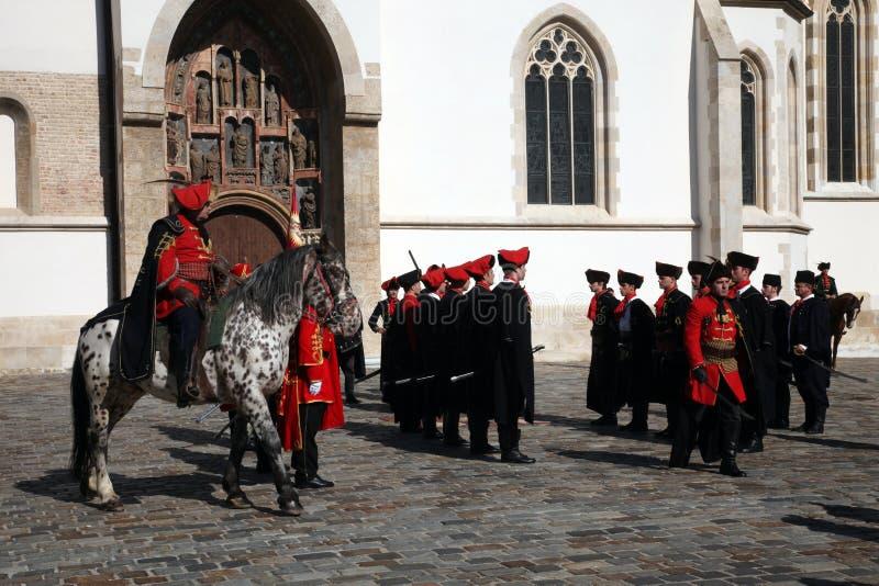 Cravat pułk zaznacza dzień krawat przy ceremonią obrazy royalty free