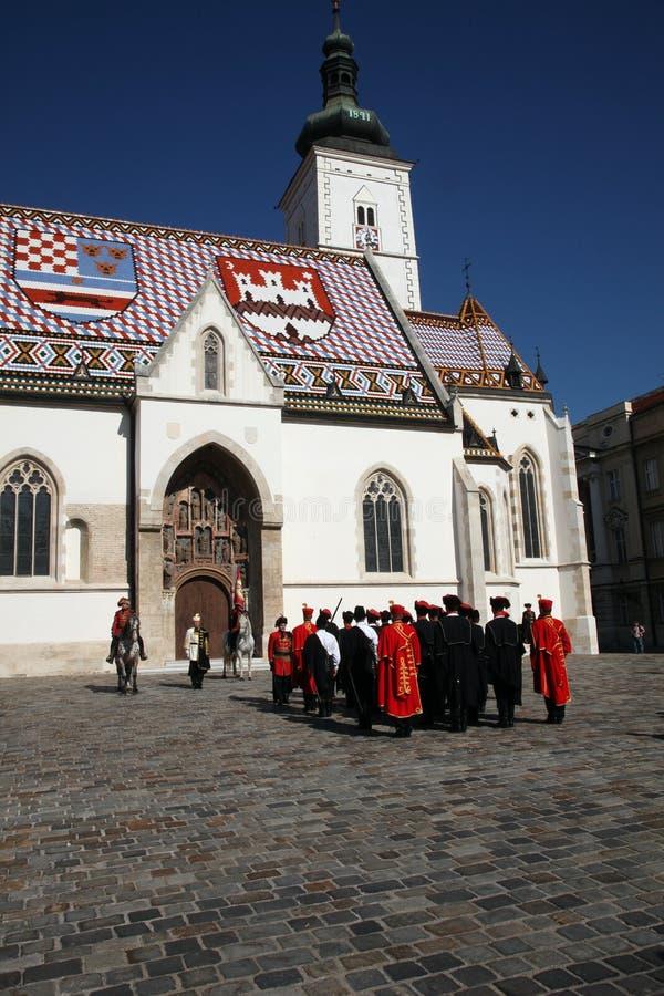 Cravat pułk zaznacza dzień krawat przy ceremonią obraz stock
