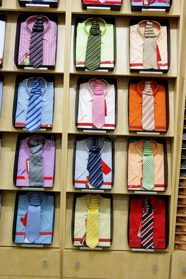 Cravate et chemises photo libre de droits