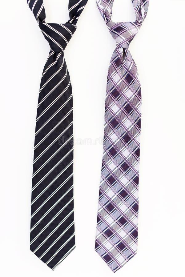 Cravates à la mode photos libres de droits