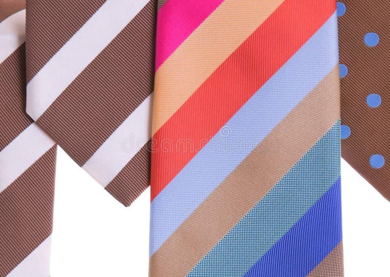 Cravates assorties image libre de droits