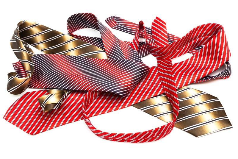 Cravates lumineuses et à la mode image stock