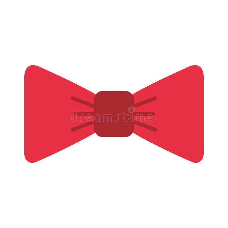 Cravatta a farfalla operata isolata illustrazione di stock