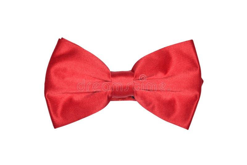 Cravatta a farfalla rossa fotografia stock libera da diritti
