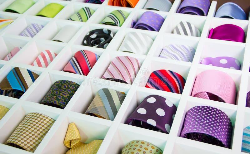 Cravatte di seta fotografia stock libera da diritti