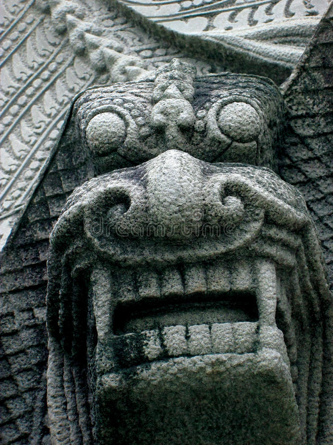 Crave stone chinese lion. Statue royalty free stock photo