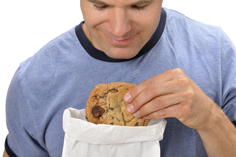 Download Craving a cookie stock image. Image of looking, brown - 25459563