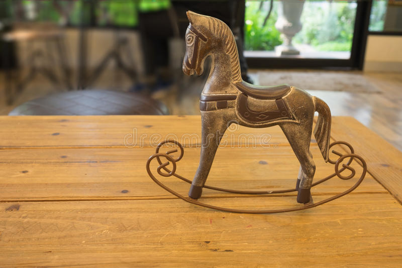 Craving wooden horse toy royalty free stock image