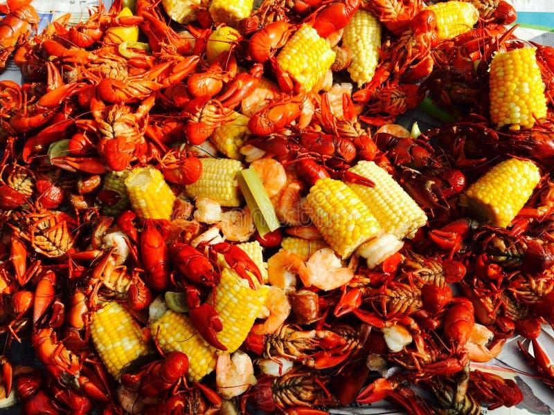 Crawfish boil royalty free stock images
