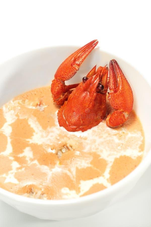 crawfishsoup arkivbild