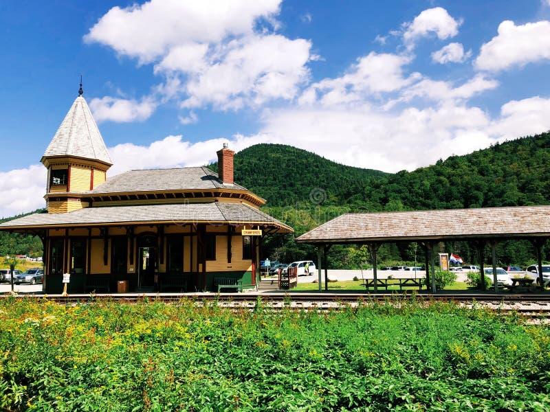 Crawford Depot i New Hampshire fotografering för bildbyråer