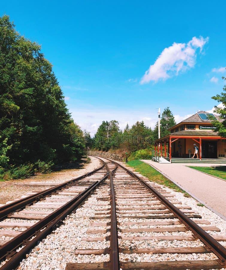 Crawford Depot i New Hampshire arkivfoton