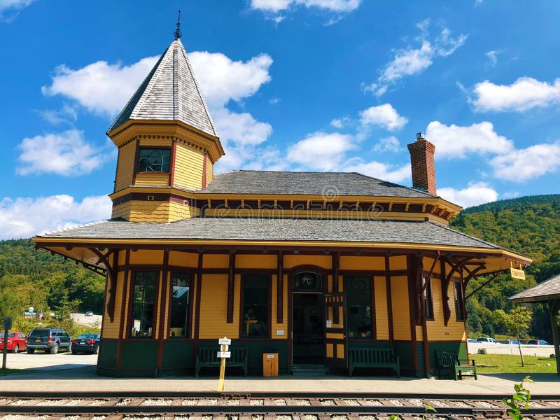 Crawford Depot i New Hampshire royaltyfri foto