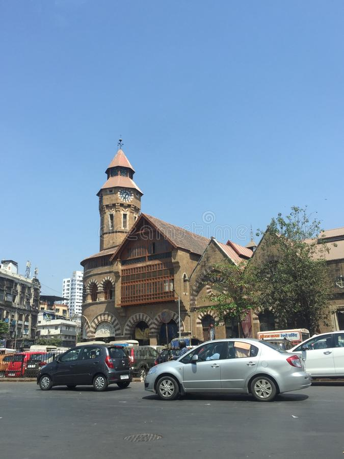 Crawford Market Mumbai, Indien royaltyfri fotografi