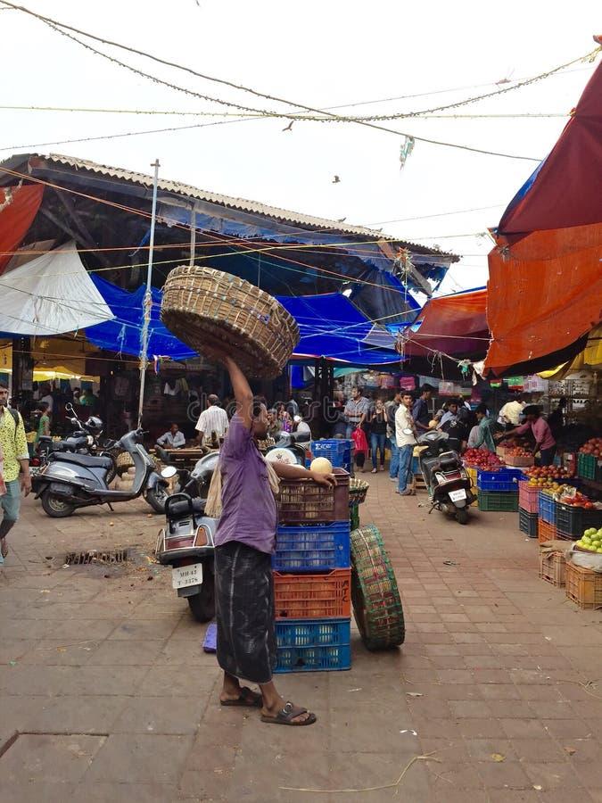 Crawford Market - scene del mercato immagini stock libere da diritti