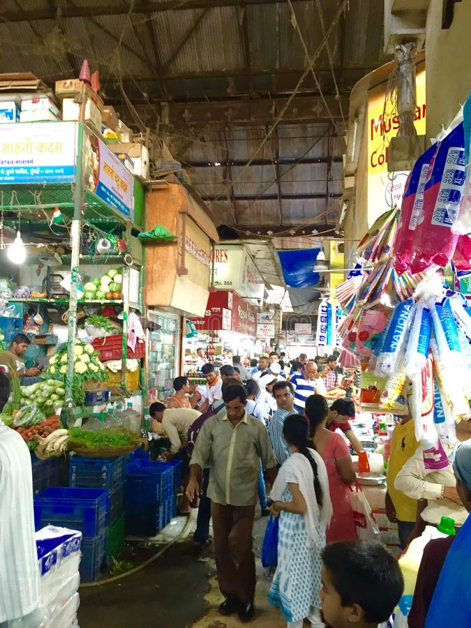 Crawford Market - scene del mercato fotografia stock