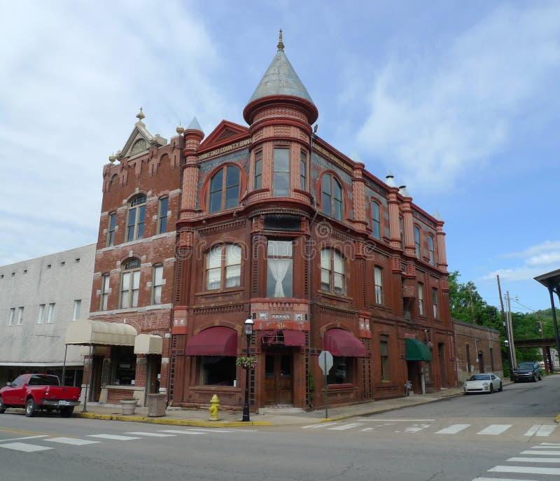Crawford okręgu administracyjnego banka budynek, Van Buren, Arkansas obrazy stock
