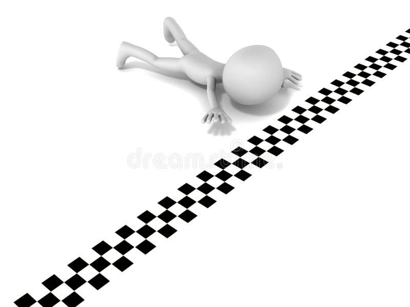 Crawl To Finish Line Stock Image