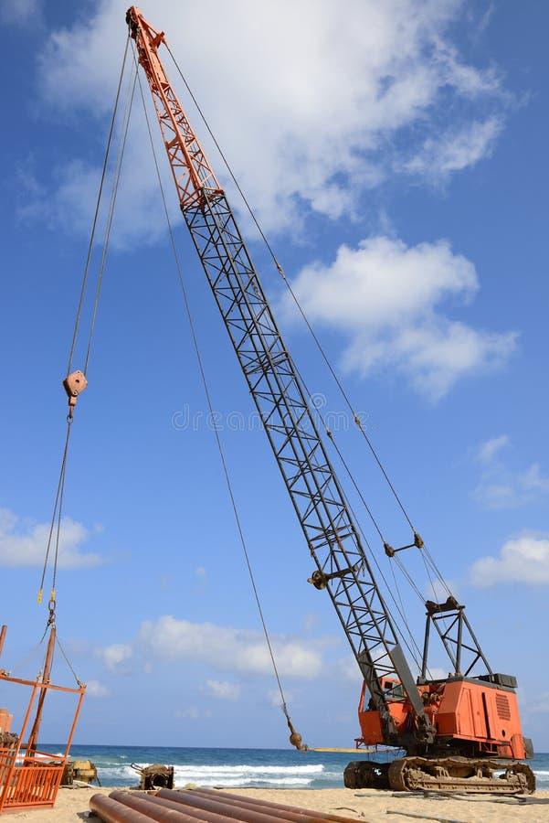 Crawler crane stock image