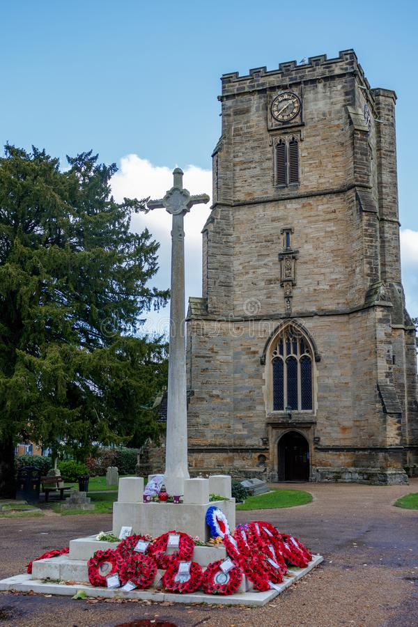 CRAWLEY, ZACHODNI SUSSEX/UK - LISTOPAD 21: St John Baptystyczny Chur fotografia stock