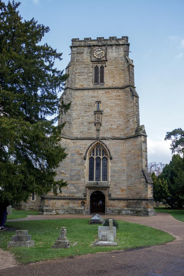 CRAWLEY, ZACHODNI SUSSEX/UK - LISTOPAD 21: St John Baptystyczny Chur obrazy stock