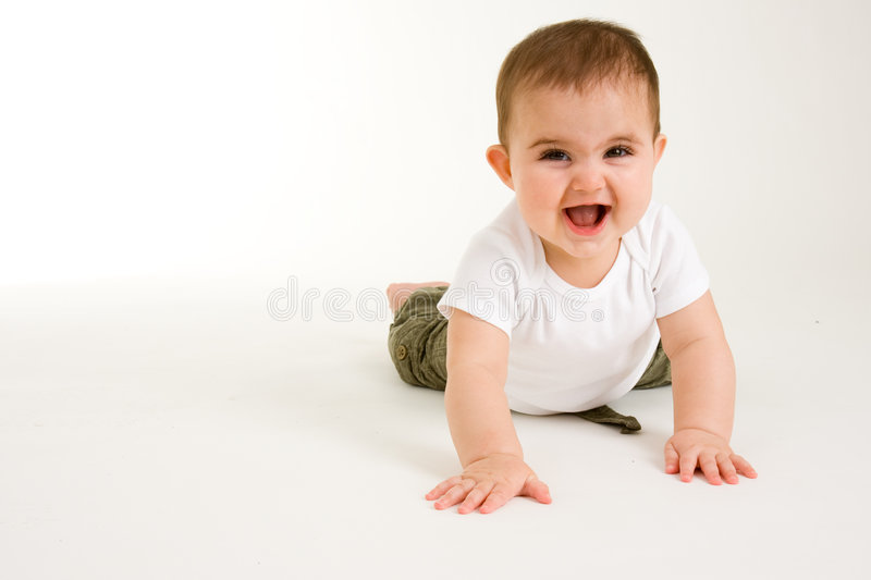 Download Crawling Baby 3 stock photo. Image of happy, cute, chubby - 4975284
