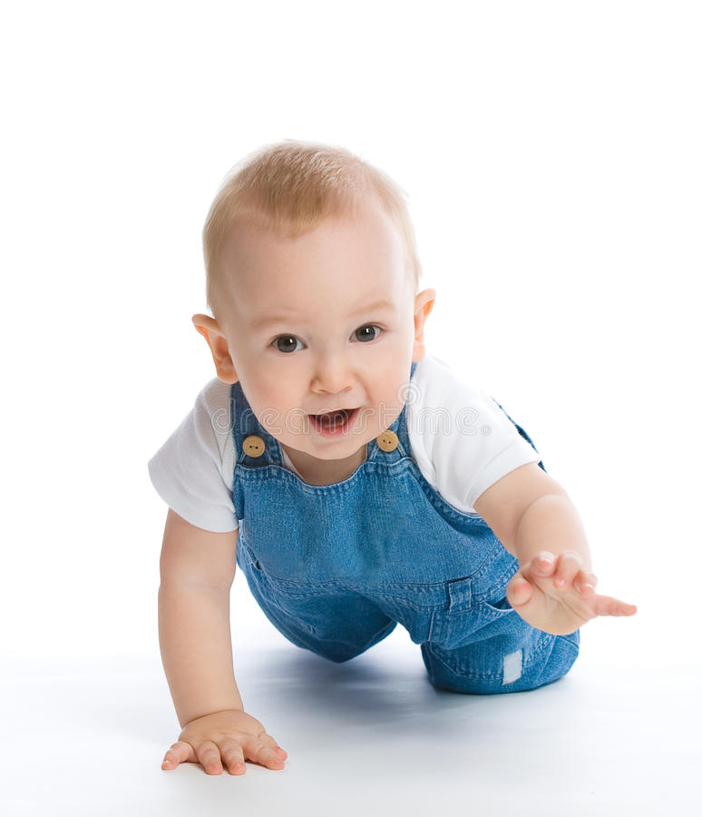 Crawling baby boy. Picture of crawling baby boy royalty free stock photo