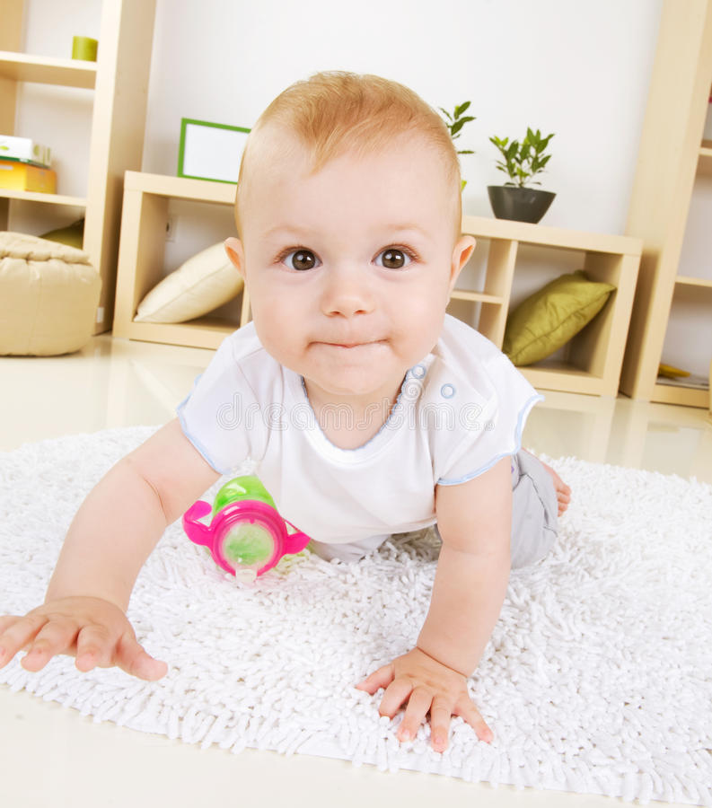 Crawling Baby Boy royalty free stock photo