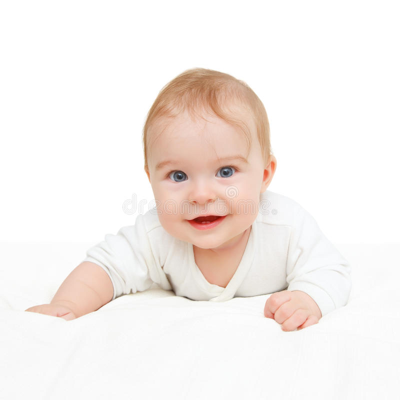 Download Crawling blue-eyed baby stock photo. Image of infant - 22796322