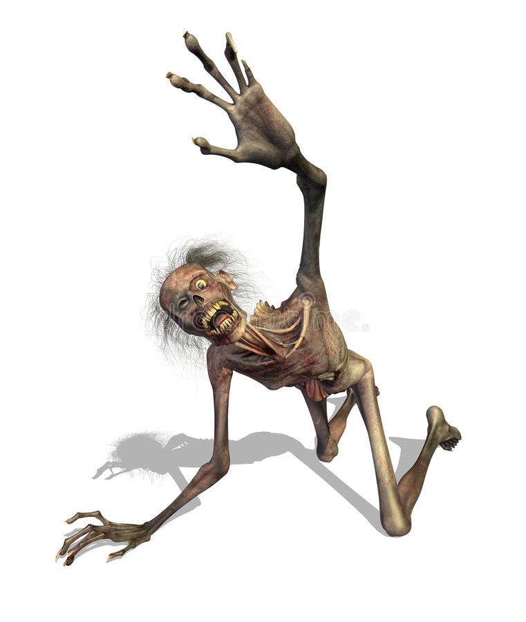 Crawling Zombie Royalty Free Stock Photography