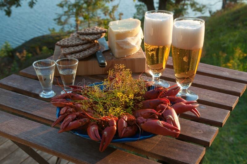 crayfish przyjęcie obraz royalty free