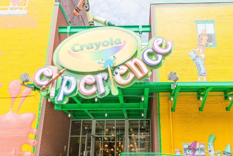 Crayola经验在伊斯顿,宾夕法尼亚 免版税库存图片
