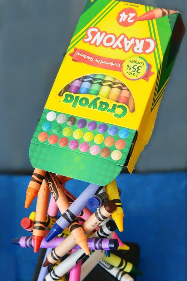 Crayola-Zeichenstifte lizenzfreie stockfotos