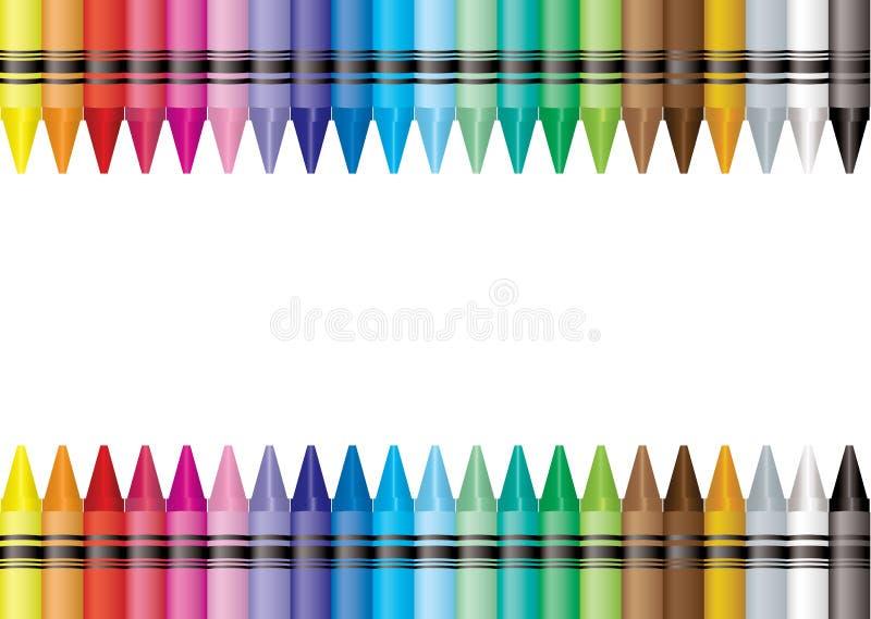 crayon граници бесплатная иллюстрация