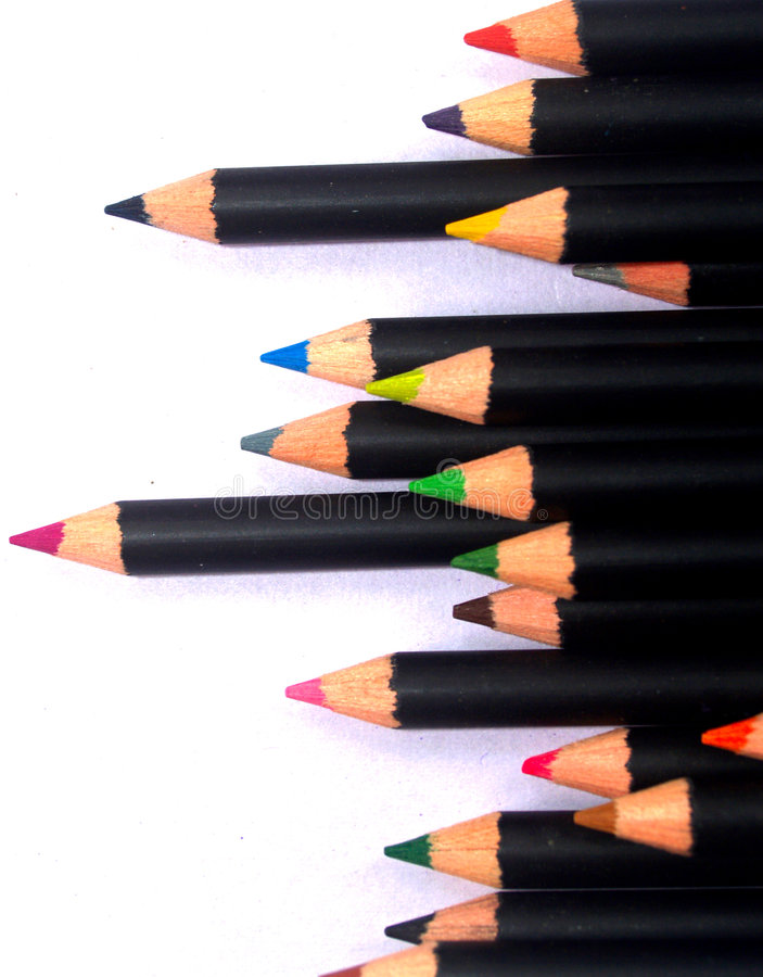 Crayon 24 de couleur photographie stock libre de droits