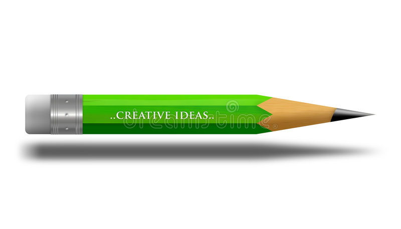 Crayon illustration stock
