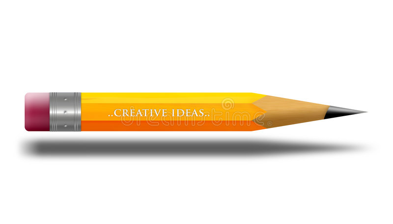 Crayon illustration stock