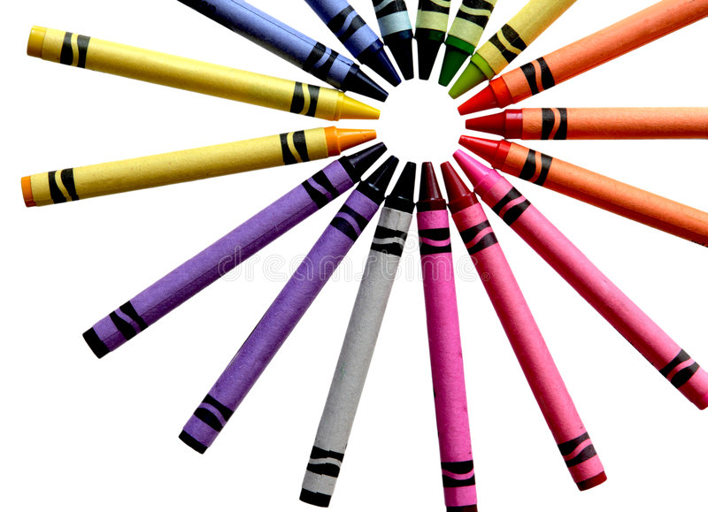 Download Crayon stock image. Image of bunch, back, colored, pigment - 6202225