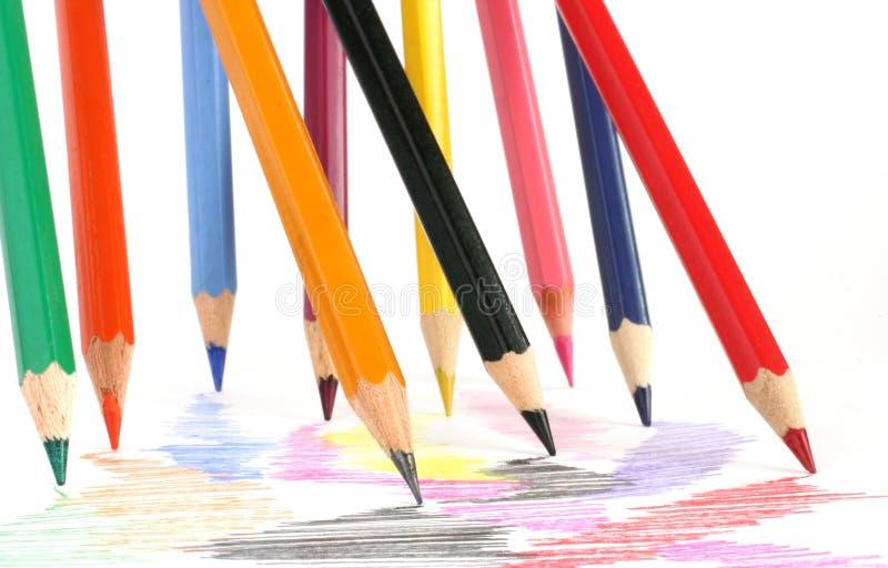 crayon 7 royaltyfri bild
